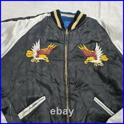 Korea war Korean jacket size large reversible with eagle 1950's