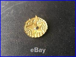 Korean WAR Nor th Korean Cap Badge