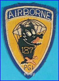 Korean War, 187th Para/Glider Inf. Regt. Insignia, Bullion Detail, Exc. Cond, #3