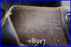 Korean War 1951 Uniform Boots Captoe Service Shoes 9 E National Shoe Co Leather