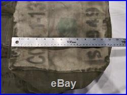 Korean War 1951 Vintage Collectible Canvas Duffel Bag Large