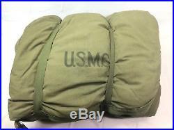 Korean War 1952 USMC Marines Sleeping Bag, Military, Vintage, Original, Down, Liner