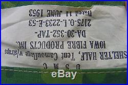 Korean War 1953 U. S. M. C. Pup Tent 2175-0.1.2233-E-53