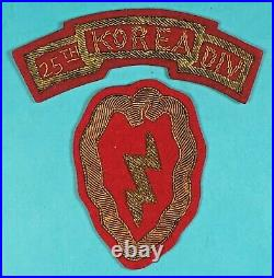 Korean War, 25th Infantry Division SSI with Tab, Bullion on Wool, Exc. Cond, #1