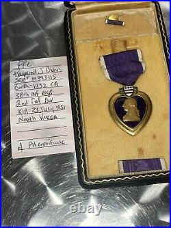 Korean War 38th Infantry Regiment KIA PH Medal Case Engraved Named