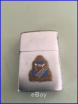 Korean War 38th Infantry Regiment Zippo Lighter Named LT heinrich Rock of Marne