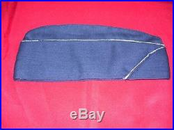 Korean War 4-Star General Air Force USAF Blue Wool Overseas Cap (7 1/4)