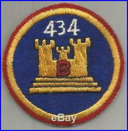 Korean War 434th Engineer Construction Battalion B Company Patch Inv# A454