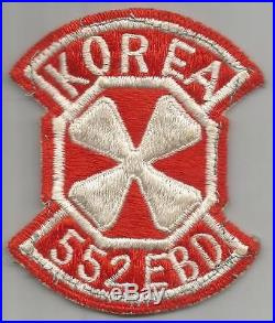 Korean War 552nd Engineer Base Depot Patch Inv# A447