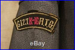 Korean War 5th Air Force 6127th Air Group K-16 Wings + Airborne Leathers Size L