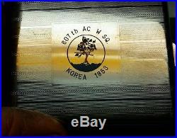 Korean War 607th AIR FORCE USAF AC&W Squadron Cigarette Case Military Control