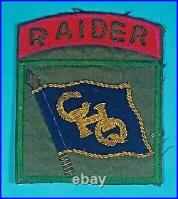 Korean War, 8245th GHQ Raider Insignia, 1 Piece, Bullion, Excellent Condition