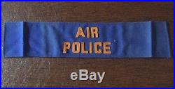 Korean War Air Force Air Police Arm Band Original Not A Reproduction