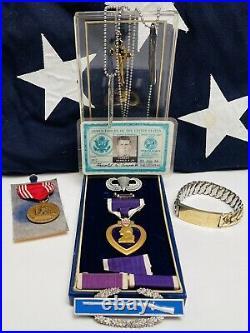 Korean War Army Airborne Military Lot Harold A. Turner Medals Dog Tags War Hero
