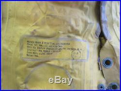 Korean War BAUER U. S. N. USN Mark 2 Pilots Life Vest Preserver 1957 US Navy