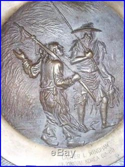 Korean War Brass Shell Plate I Corps (group) Ag Section Uijongbu Korea 62-63
