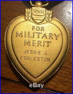 Korean War Cased Purple Heart Named 1952