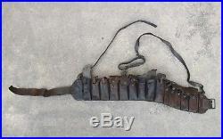 Korean War Chinese Communist Mauser leather bandoleer ammo pouch PVA CPV KPA NK