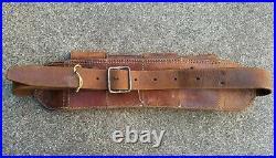 Korean War Chinese Communist leather bandoleer ammo pouch belt PVA captured KPA