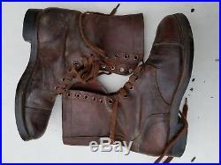 Korean War Combat/Jump Boots 8-1/2 D Named
