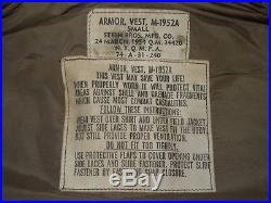 Korean War Early Vietnam M-1952A Flak Vest US Military Size Small 1954 Marines