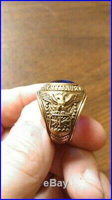 Korean War Era 1950 USAF US Air Force Pilot 50-F 10k Gold Graduation Class Ring