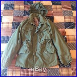 Korean War Era 1951 Military Field Jacket With Liner Sz X-Small Regular