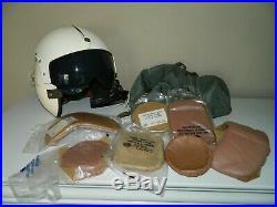 Korean War Era APH-5 Military Flying Helmet, Extra New Pads, Helmet Bag