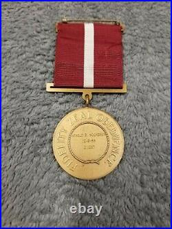 Korean War Era Coast Guard Good Conduct Medal Named & Engraved District 11 Rare