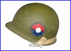 Korean War Era M-1 Helmet with Liner 9th Infantry Division Painted e30849e