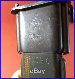 Korean War Era M1 Garand Bayonet & Scabbard NP & 1026 Etched on Scabbard