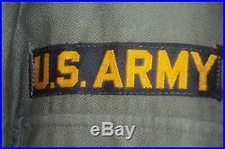 Korean War Era M51 Od 107 Field Jacket M1951 1954 Date On Inside Of Jacket
