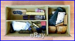 Korean War Era Military Steamer Trunk with Wardrobe and Original Accessories