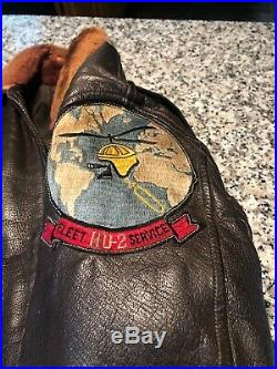 Korean War Era Monarch G1 USN Flight Jacket I'ed With Patch And Extra Patch