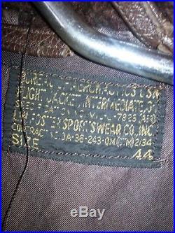 Korean War Era Navy G1 Jacket With Rare VA-34 Squadron Patch