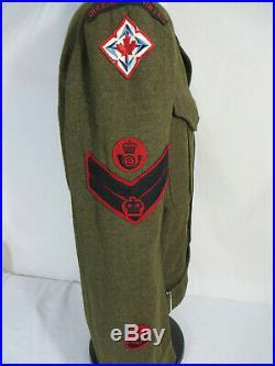 Korean War Era Queens Own Rifles Tunic. 1953 dated