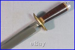 Korean War Era Randall No. 1 8 Fighter Combat Knife Heiser Scabbard 1950's