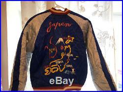 Korean War Era Satin Reversible Souvenir Jacket Eagle Original Vet estate