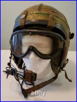 Korean War Era U. S. Navy H-4 Jet Pilot XL Flight Helmet