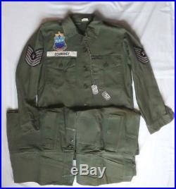 Korean War Era US Air Force Uniform Dog Tags 320th Bombardment Patch Named USAF
