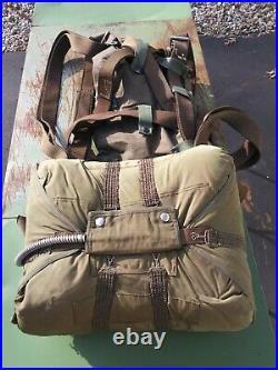 Korean War Era US Military Seatpack 24' Parachute MFG Pioneer 1954