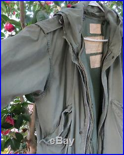 Korean War-Era USGI M-1951 M51 M1951 US Military Fishtail Parka/Jacket & Liner