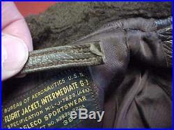 Korean War Era Us Navy G-1 Jacket Early J-7823 Size 38 Estate Item