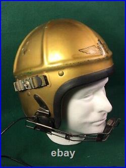 Korean War Era Us Navy Marine Corps Gentex H-4 Jet Pilot Flight Helmet
