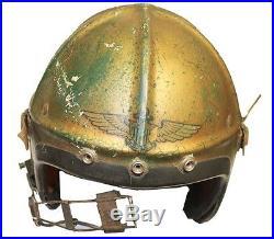 Korean War Gentex H-4 Flight Helmet US Navy Marines Oxygen Mask Inner Cloth Comm