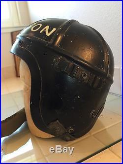 Korean War H-4 Flight Helmet Painted And Named