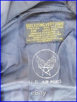 Korean War K-2A Very Light Flight Suit Large Short MFG L. W. Foster SW Unissued
