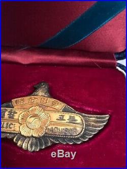 Korean War Korea US Police Advisor 3.5 Wings Badge in Case (Super Rare)