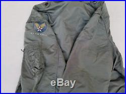Korean War L-2B Flight Jacket Size Large MFG Blue Anchor 1950s