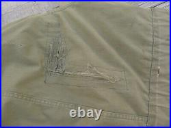 Korean War M1947 US Army USAF Parka Overcoat With Pile Liner Small, Used/Repaired